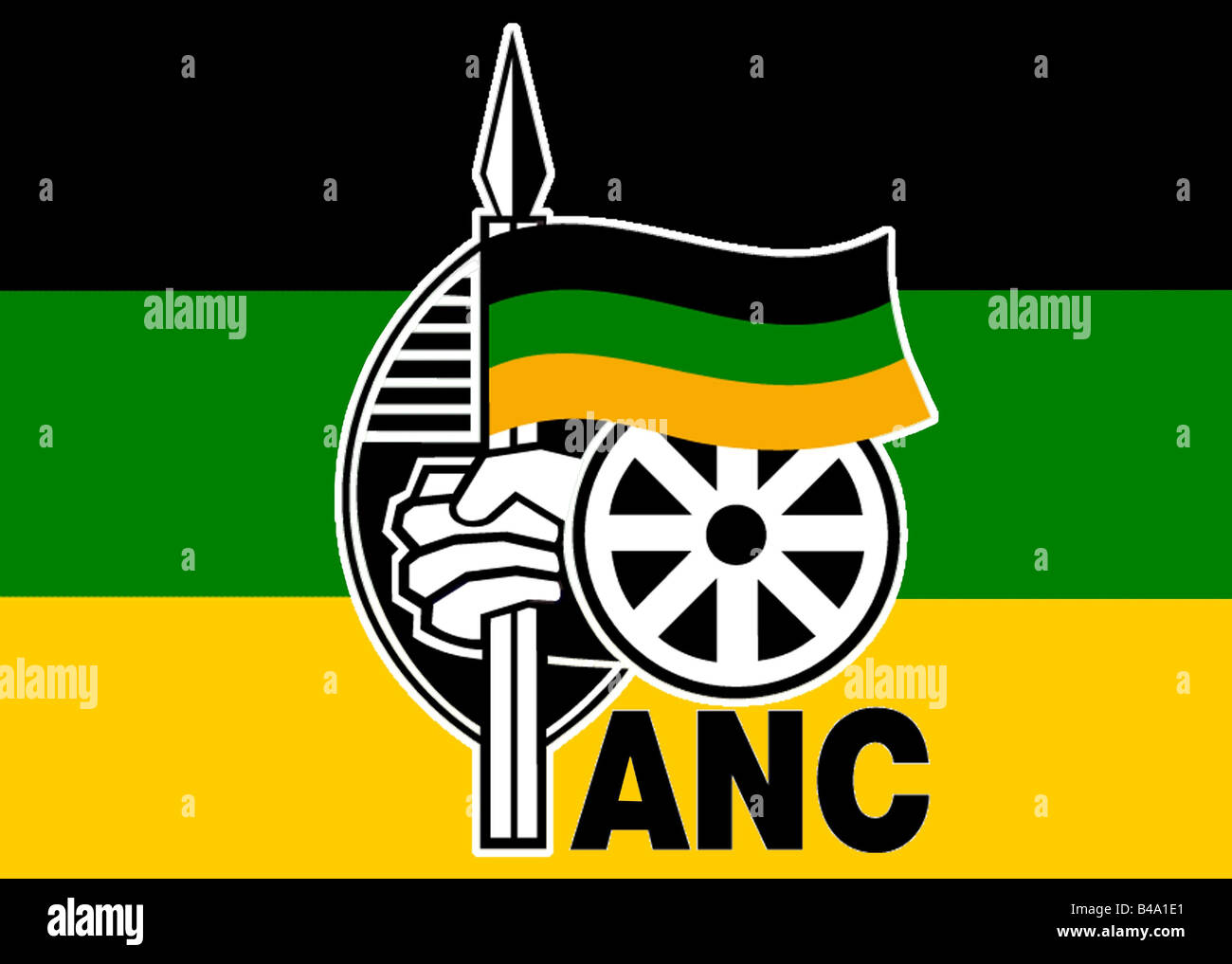 African National Congress Flag Stockfotos & African National ...