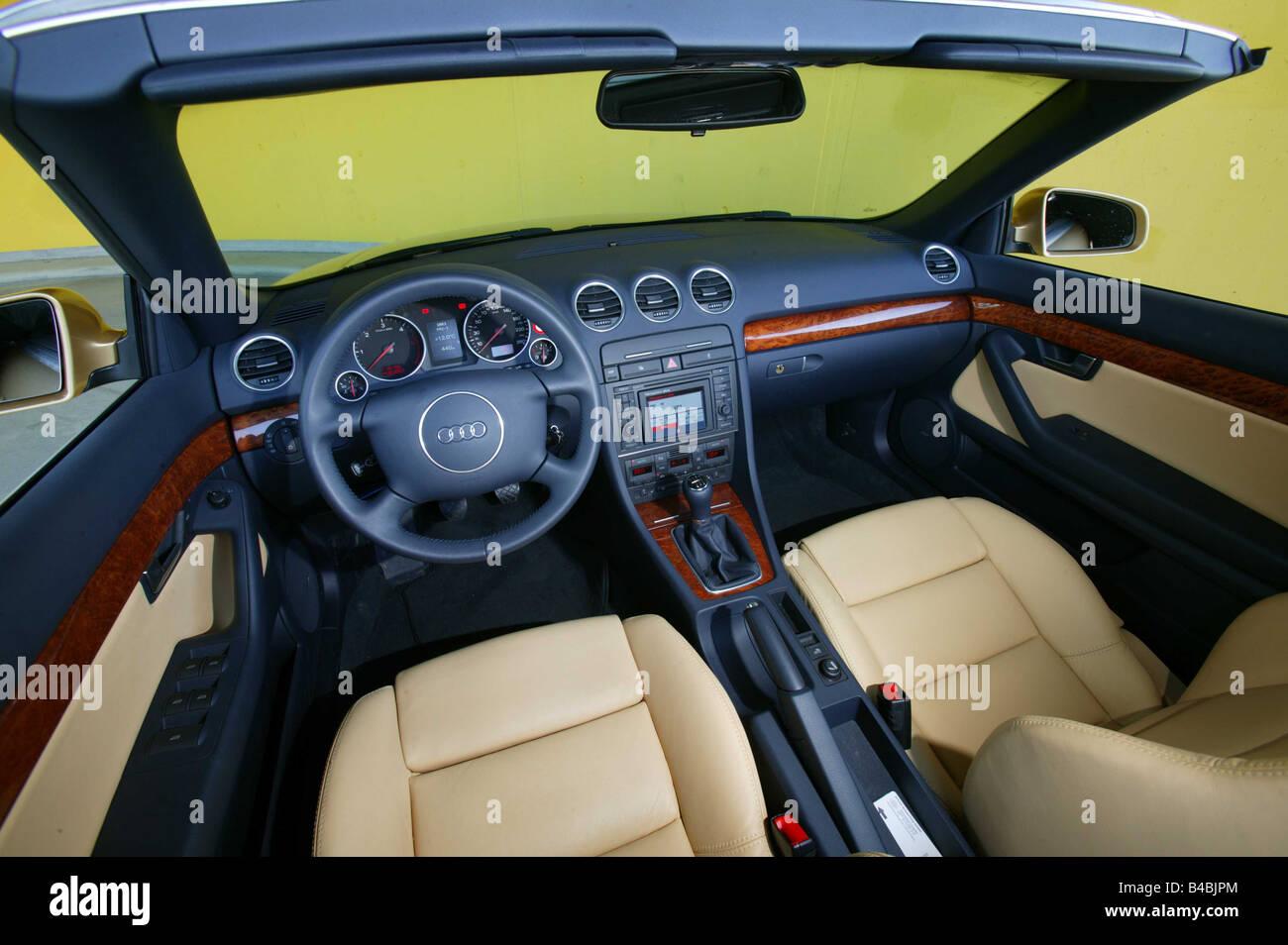 auto audi a4 cabrio dieselmotor baujahr 2000 gold oben innen blick innenansicht cockpit. Black Bedroom Furniture Sets. Home Design Ideas
