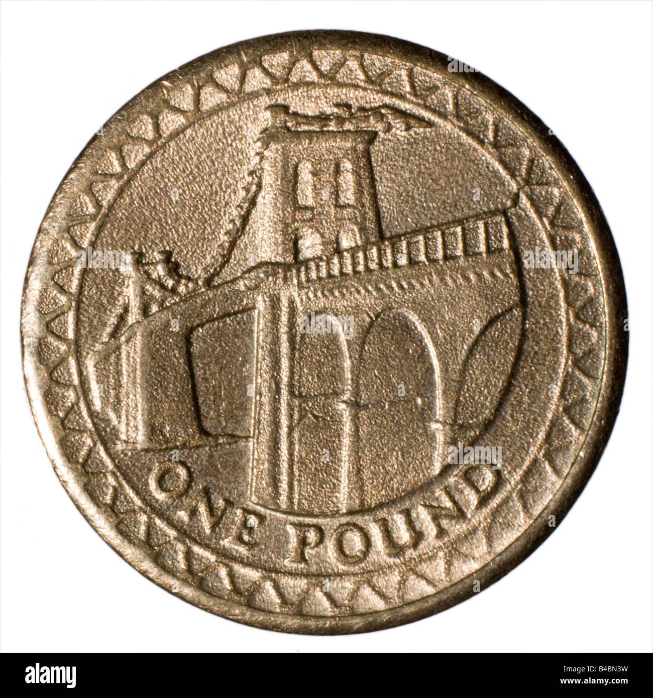 Gefälschte 2005 1 Ein Pfund Münze Zeigt Schlechte Definition Und