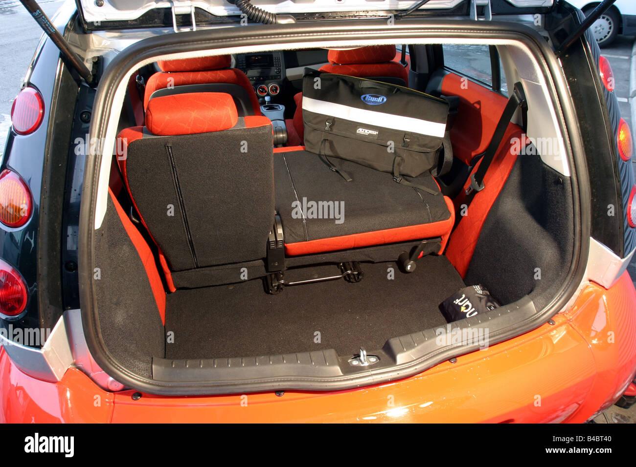 Modelljahr 2004-Limousine, Rot-Silber, Blick ins Boot, Technik ...