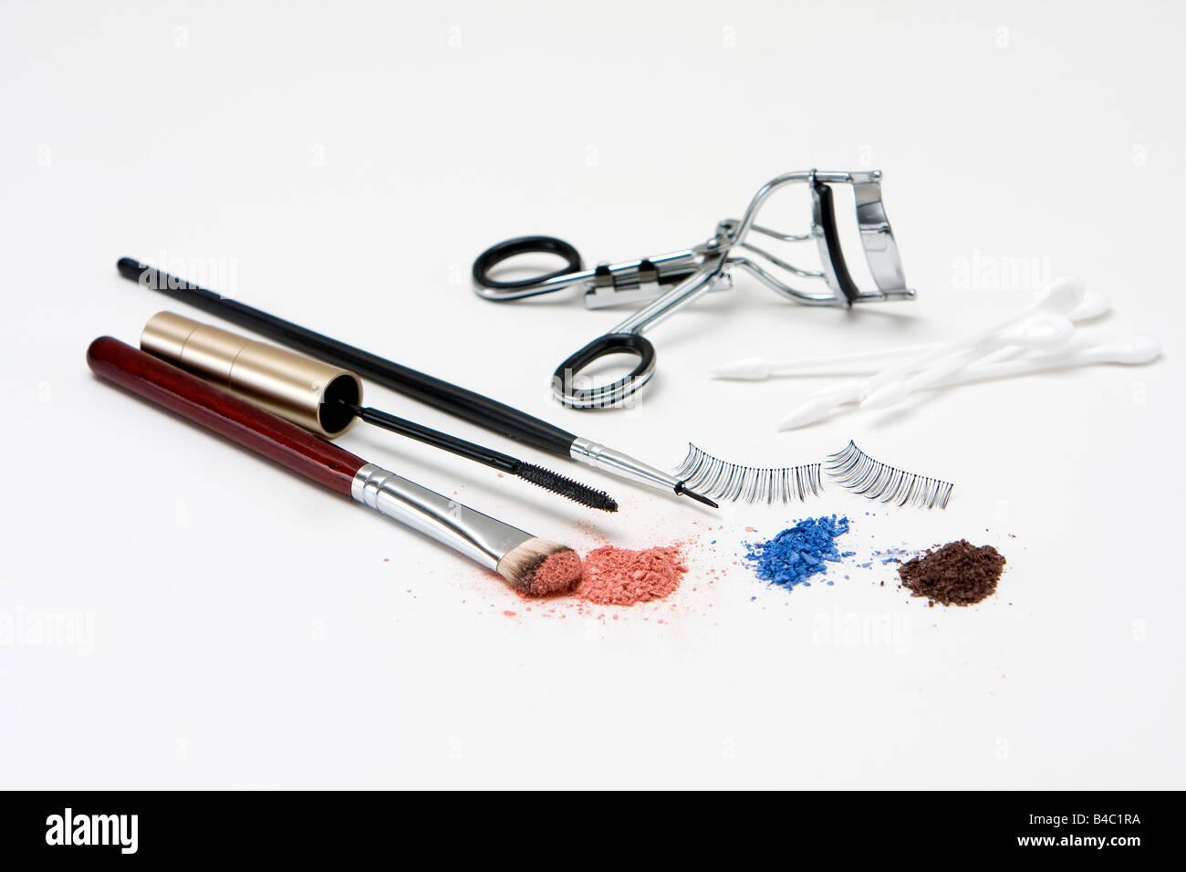 Make Up Für Die Augen Mit Lidschatten Pinsel Set Mascara