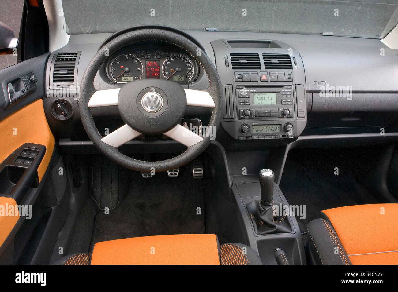 vw volkswagen cross polo 1 4 tdi modell jahr 2006 orange innenansicht innenansicht cockpit. Black Bedroom Furniture Sets. Home Design Ideas