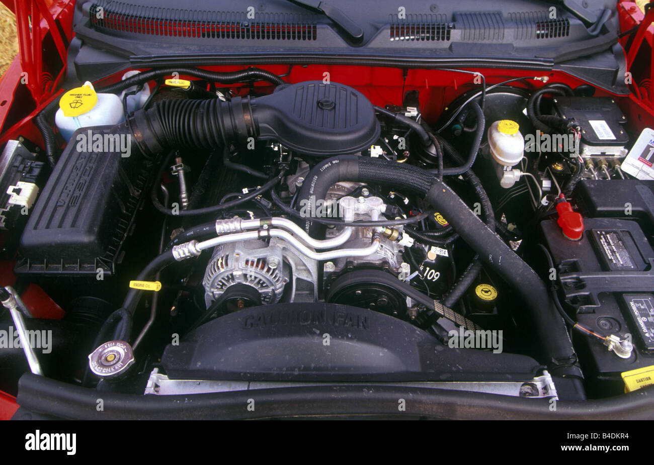 dodge dakota engines Auto, Chrysler Dodge Dakota, Pick-Up, Modelljahr 2-, rot, Blick