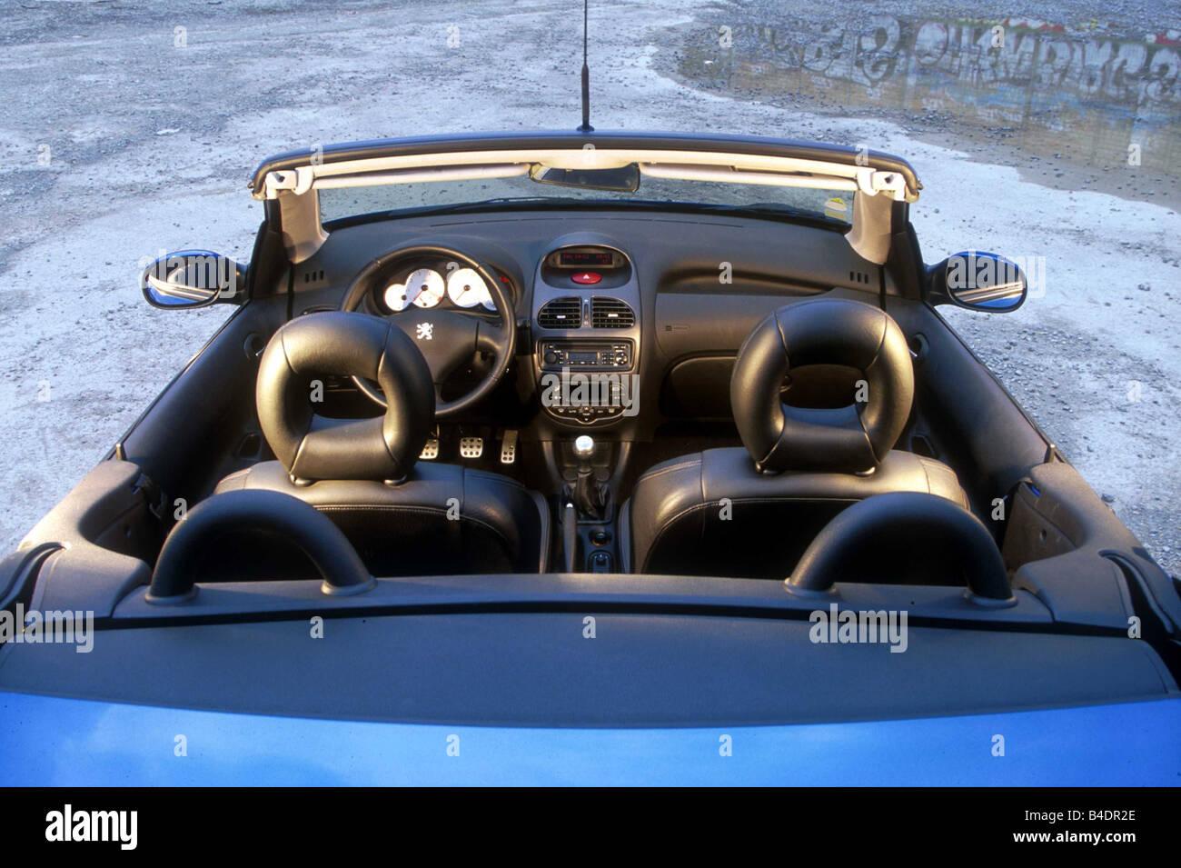Auto, Peugeot 206 CC, Cabrio, Baujahr 2000-, blau, open Top ...