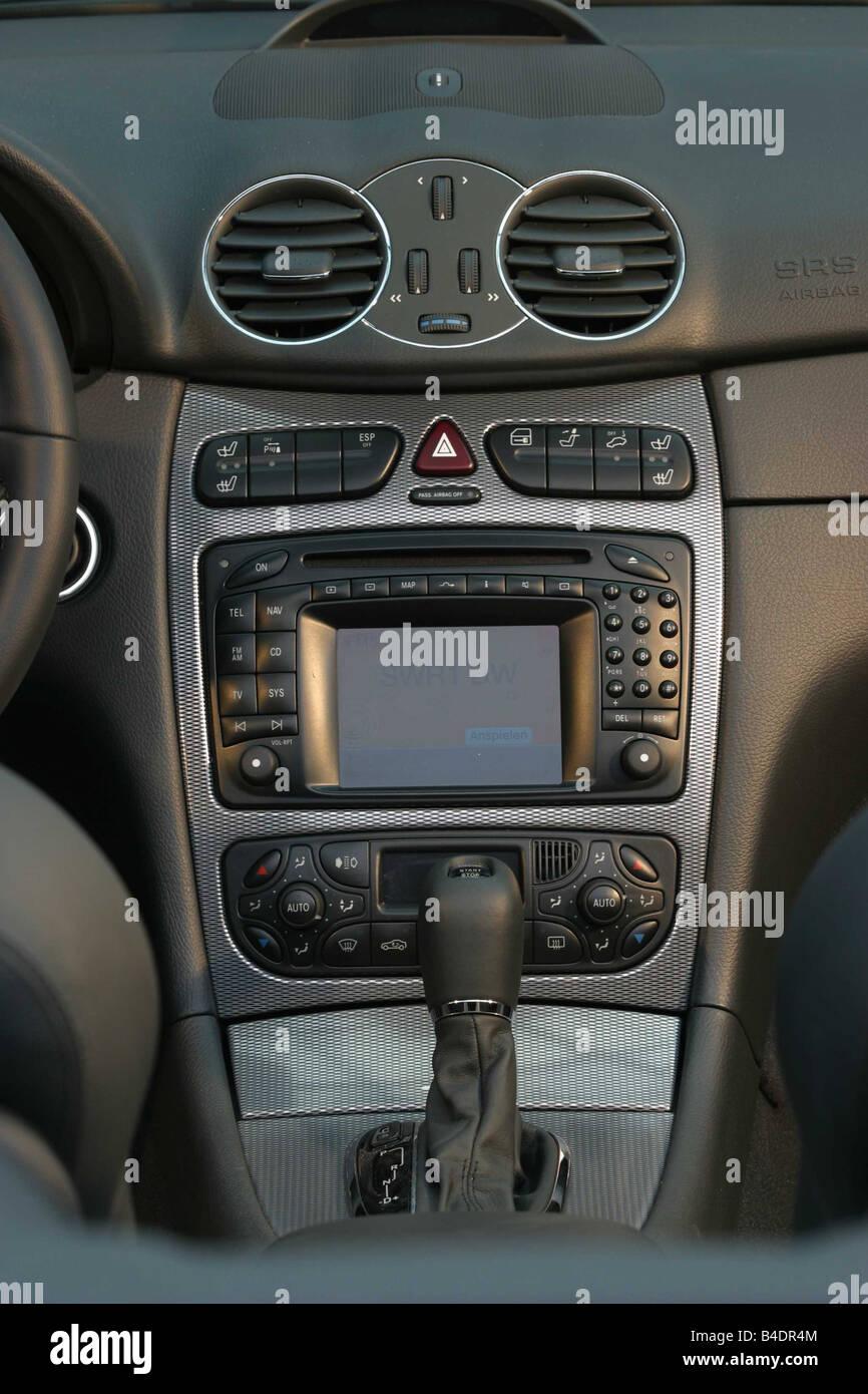 Auto, Mercedes CLK 320 Cabrio, Modell Jahr 2003-Silber ...
