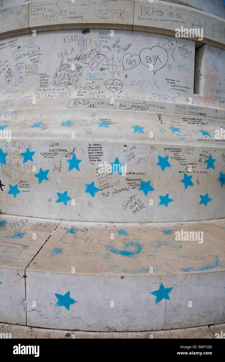 Graffiti Auf Basis Der Leuchtturm Auf Den Gianicolo Auch Bekannt Als