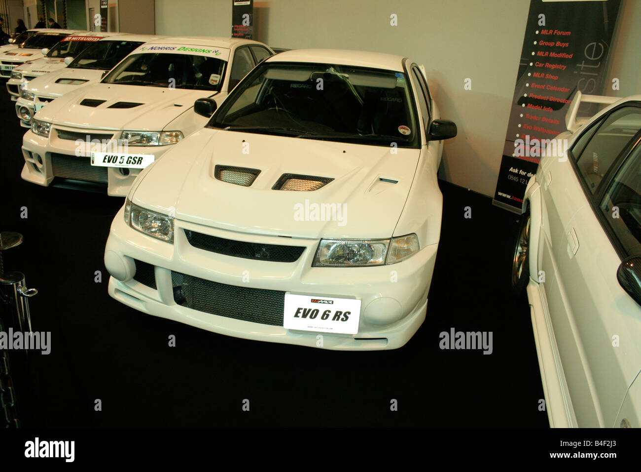 mitsubishi evo 6 rs im line-up stockfoto, bild: 20000347 - alamy