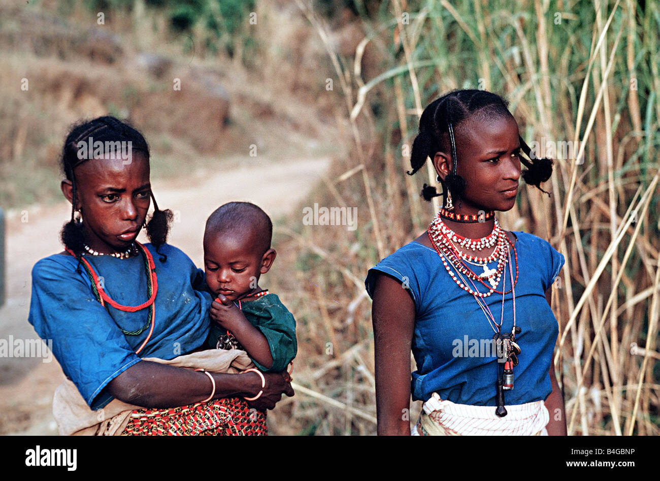Fulani-Frauen mit Kind Kamerun Stockfoto, Bild: 20029458