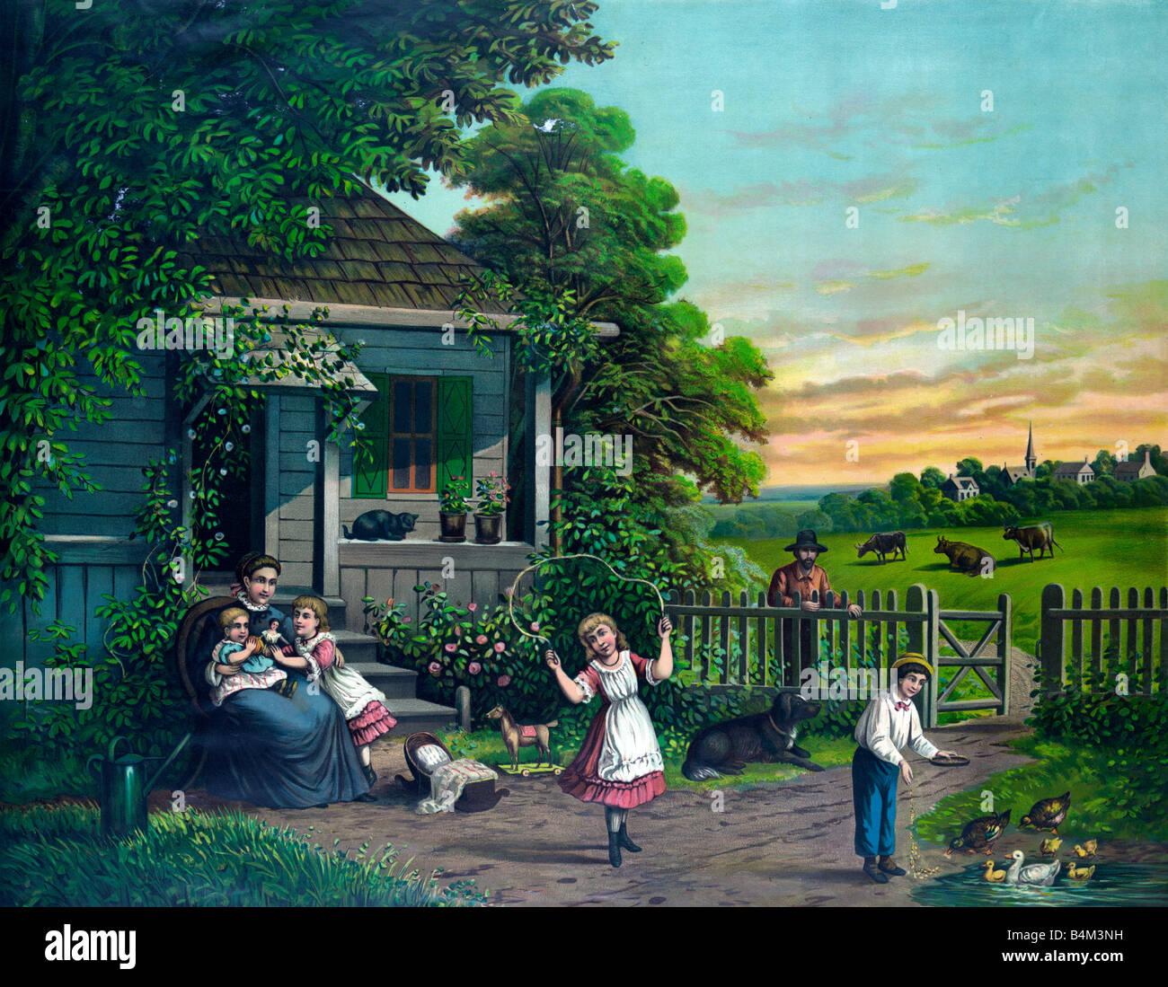 Gott Segne Unsere Heimat Kunst Malerei 1885 Stockfotografie Alamy