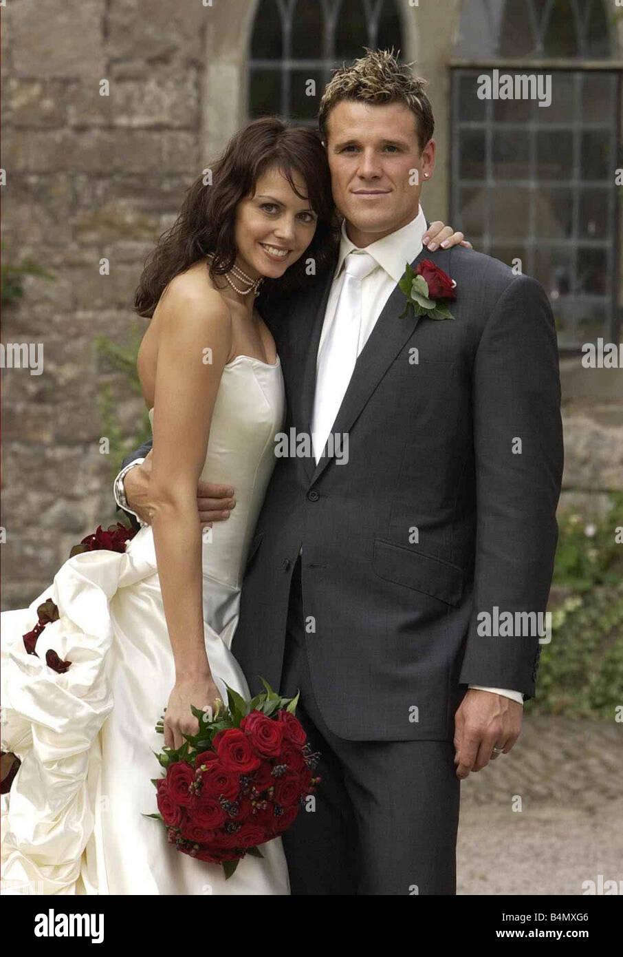 James Cracknell und Beverley Turner Hochzeitstag Oktober 2002 ...