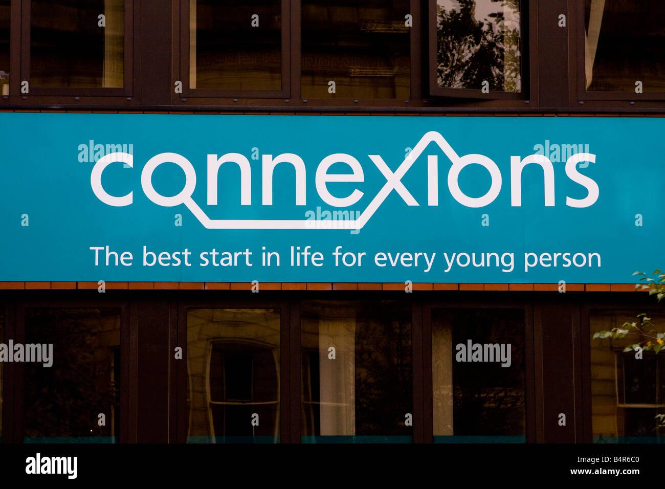 Connexions Informationen & Beratung für junge Menschen Stockbild