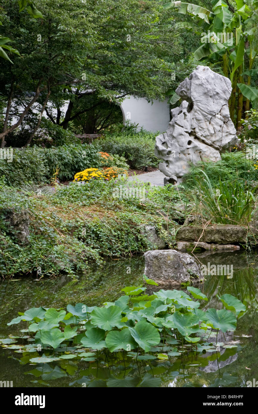St. Louis, Missouri. Chinesischer Garten, Missouri Botanical Garden ...