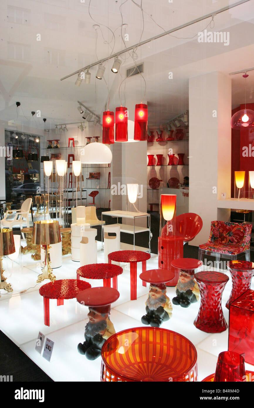 Kartell-Design-Shop Via Turati Mailand Lombardei Italien Stockfoto ...