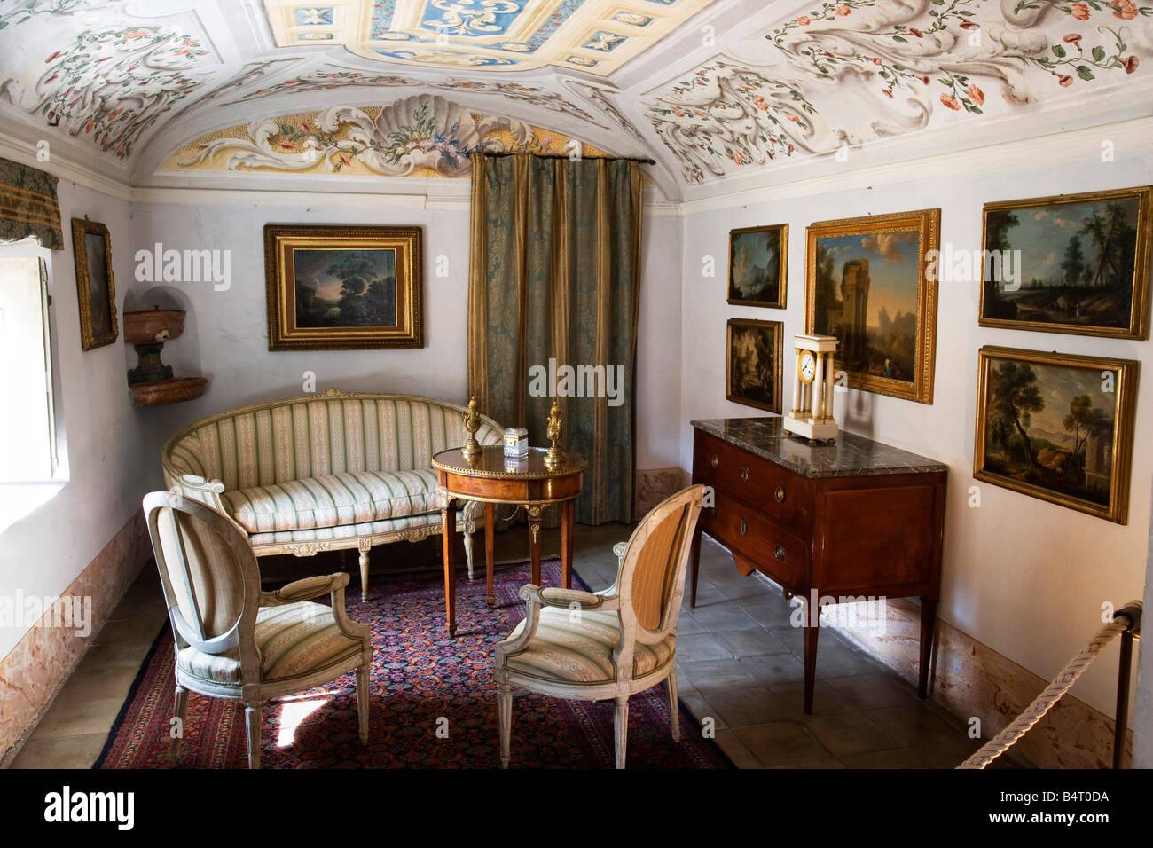Porta Wohnzimmer, wohnzimmer mit französischen möbeln auf xviii villa della porta, Design ideen