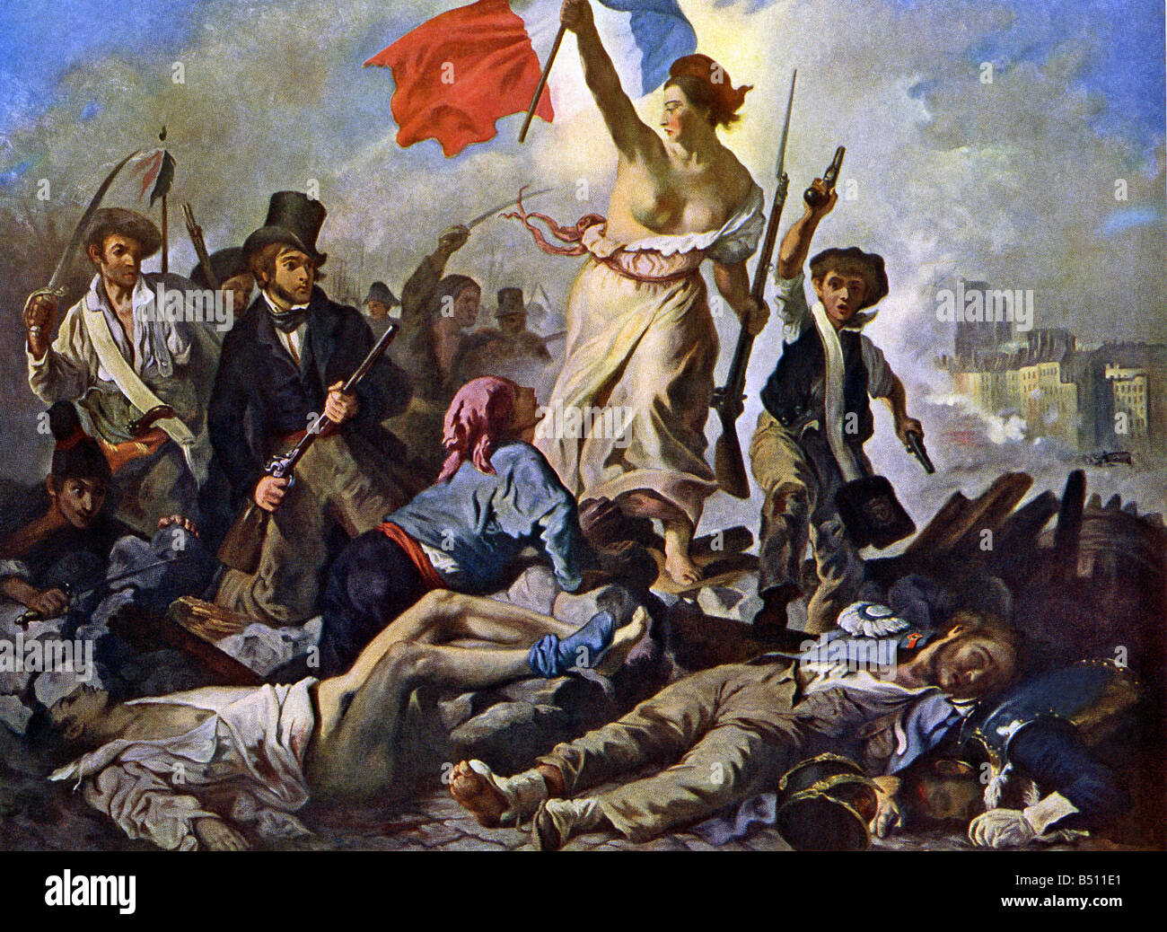 Juli 1830 französische Revolution Stockbild
