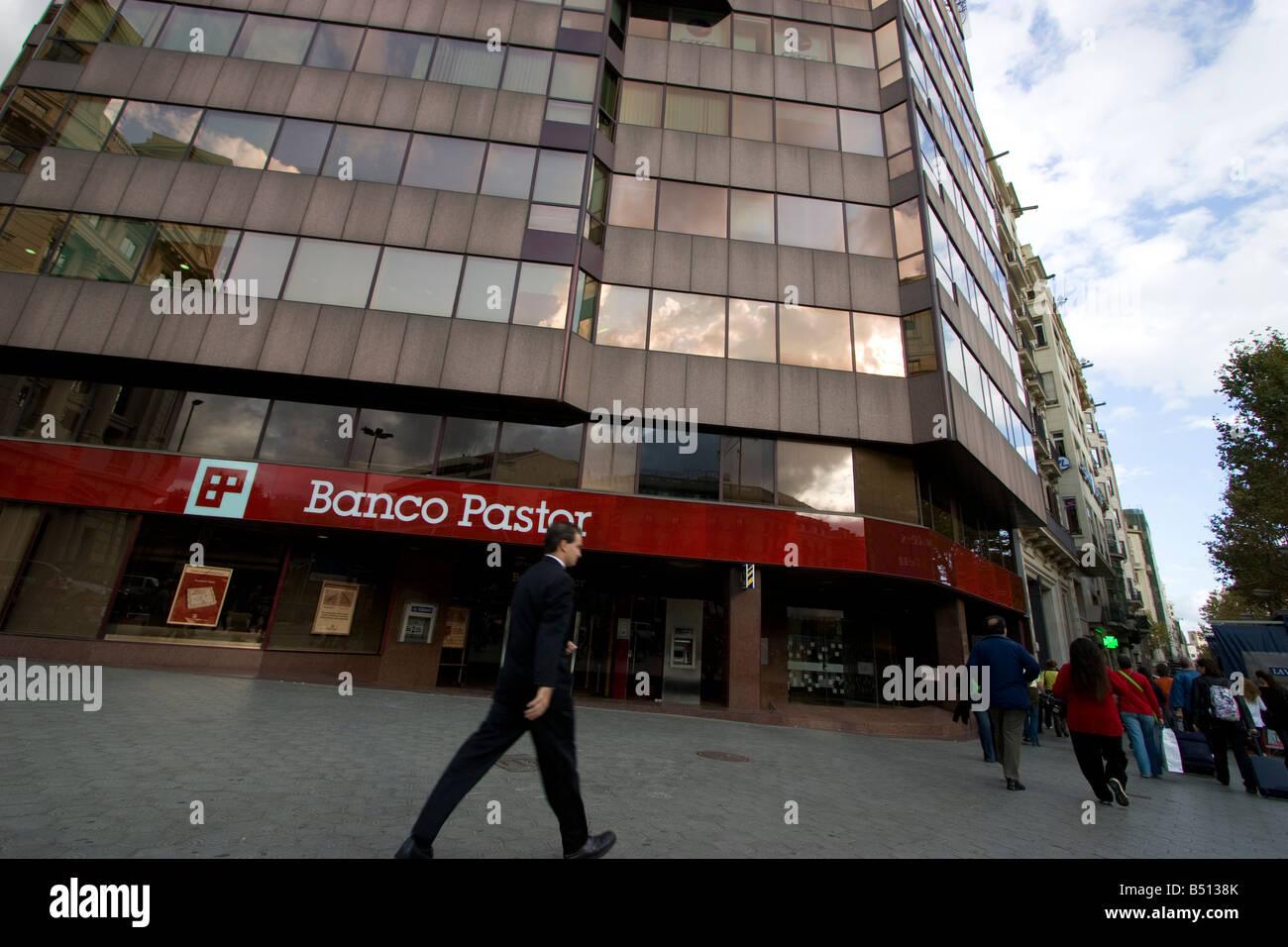 Banco Pastor Niederlassung barcelona Stockbild