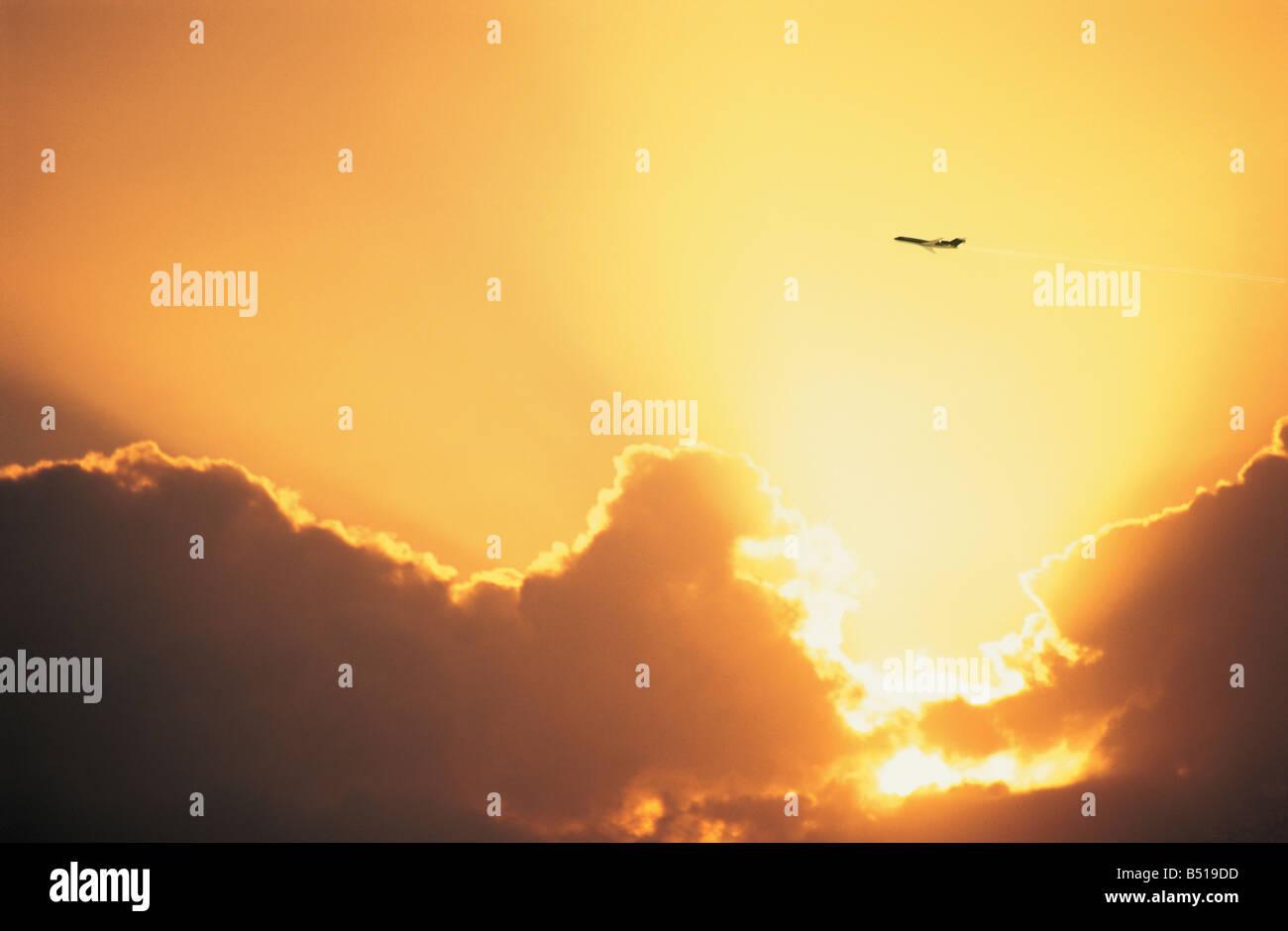goldenen Himmel Stockbild