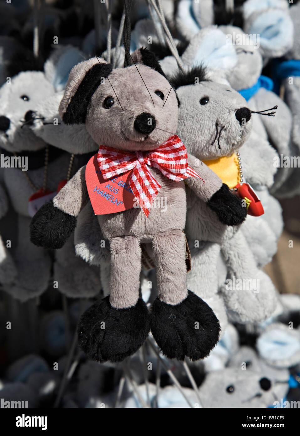 Stofftier Ratten auf Verkauf Hameln Deutschland Stockbild