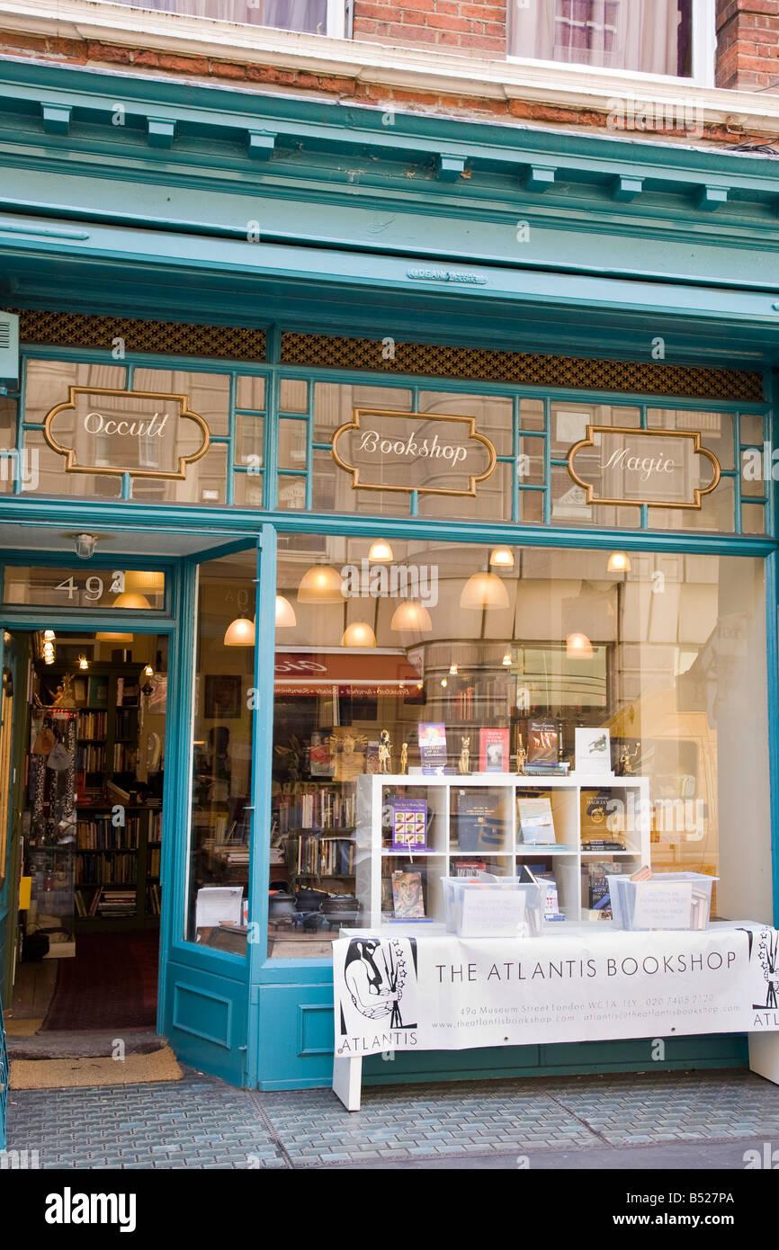 Die Atlantis okkulten Buchladen Museumsstrasse Bloomsbury London Stockbild