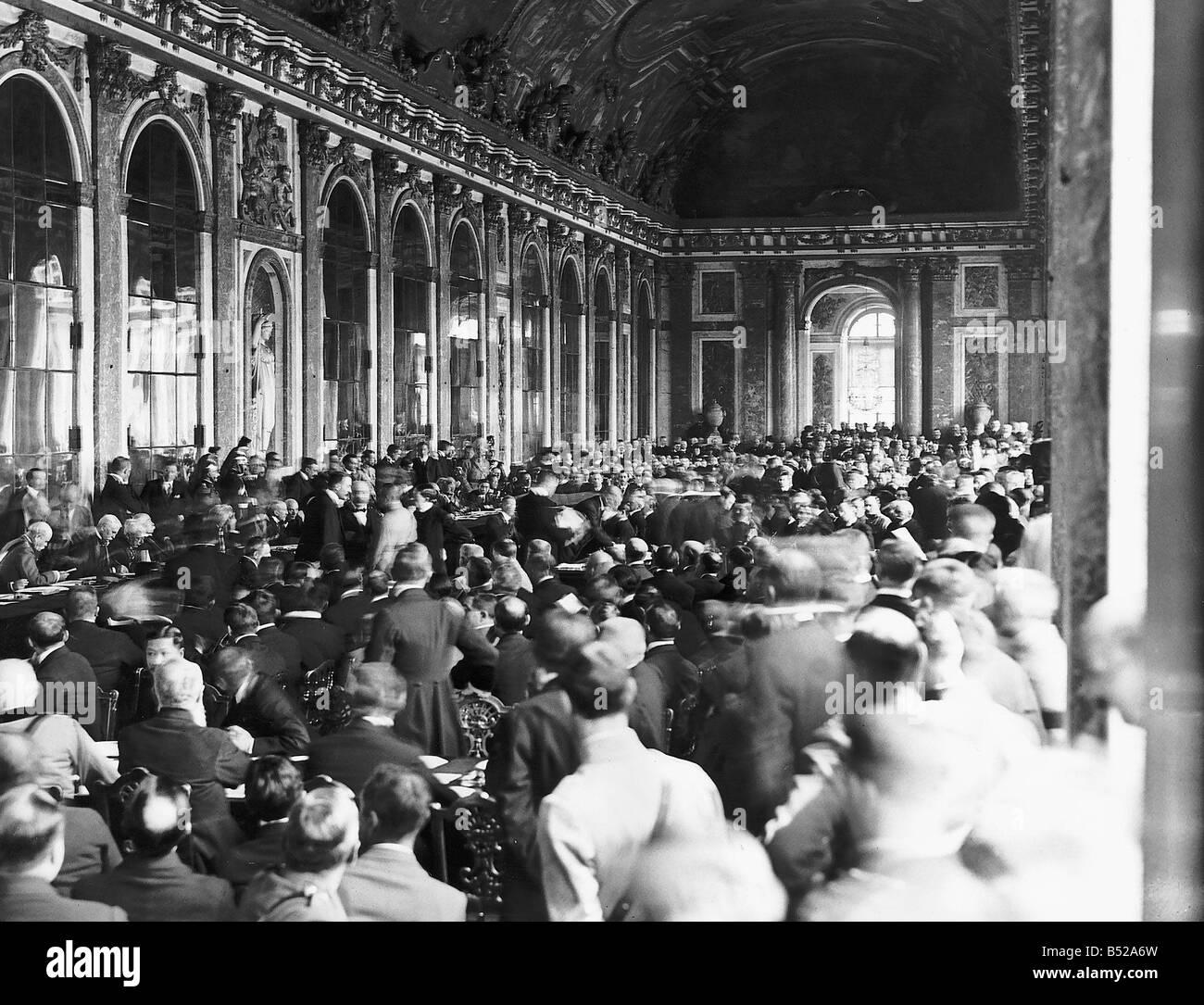 Int Wenn Frieden Vertrag Von Versailles 1919 Stockfoto Bild