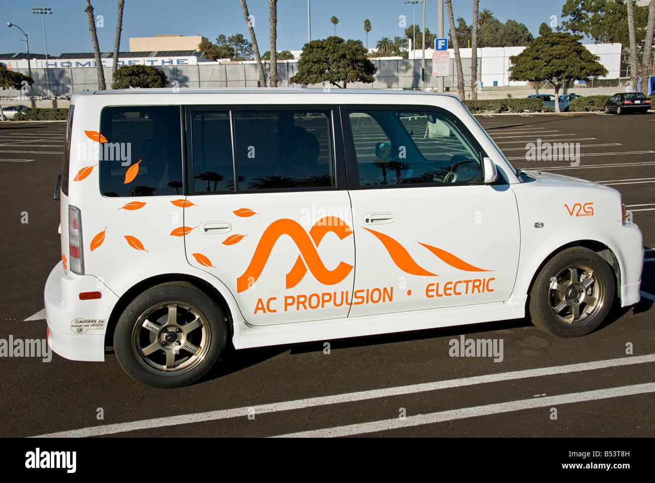 """eBox neue Elektroauto Scion xB """"5-Gang"""" von AC Propulsion Green Power Strom sauber in elektrische Energie Stockbild"""