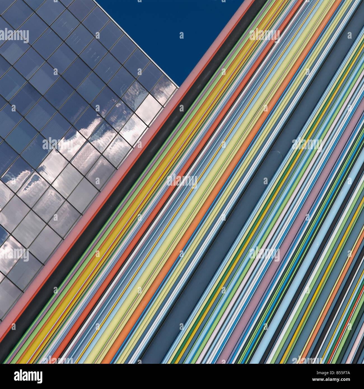 Details der Architektur in La Defense Stockbild