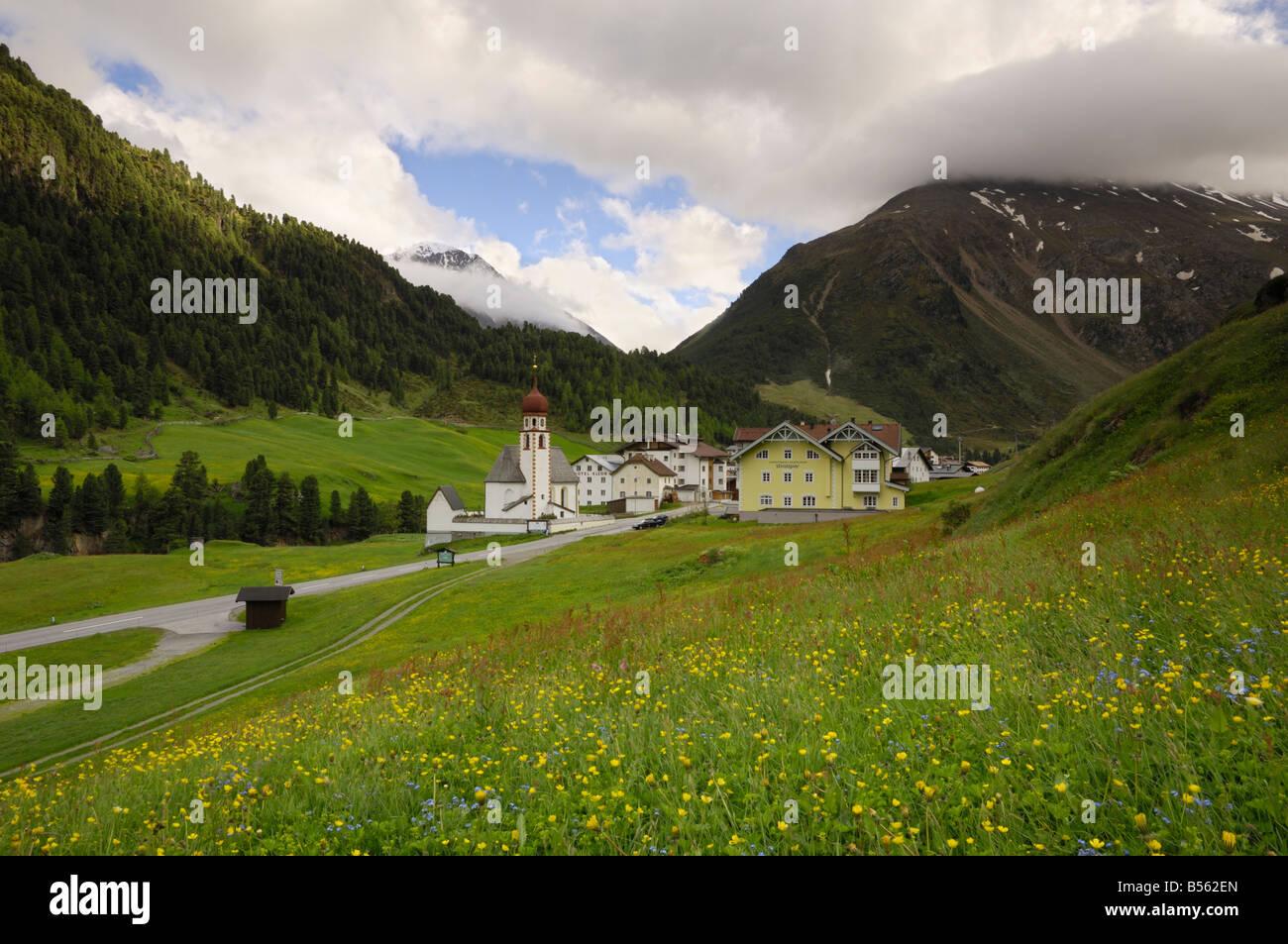 Vent, Venter Tal, Ötztal Tal, Tirol, Österreich Stockbild