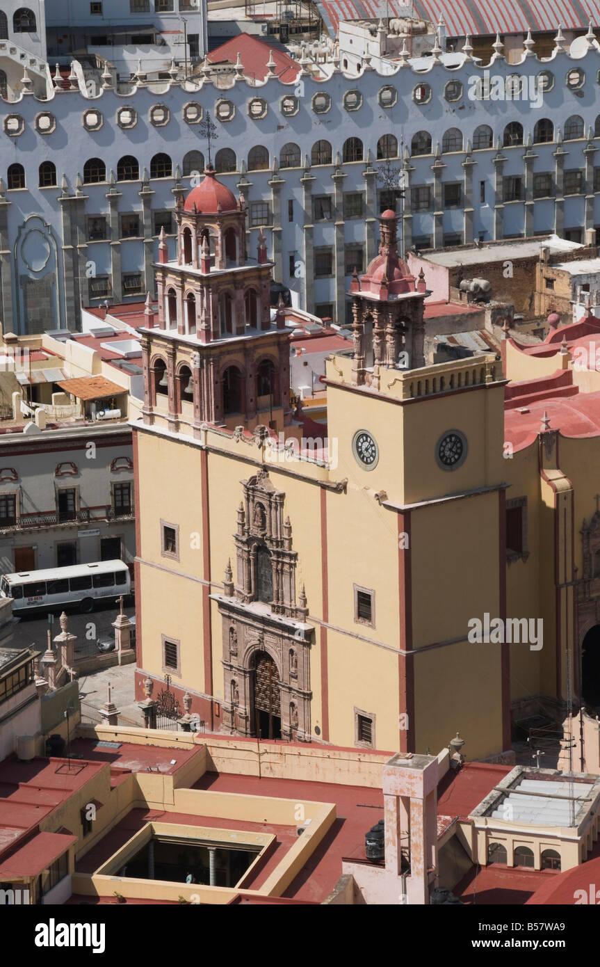 Die Basilica de Nuestra Senora de Guanajuato, Guanajuato, Bundesstaat Guanajuato, Mexiko Stockbild