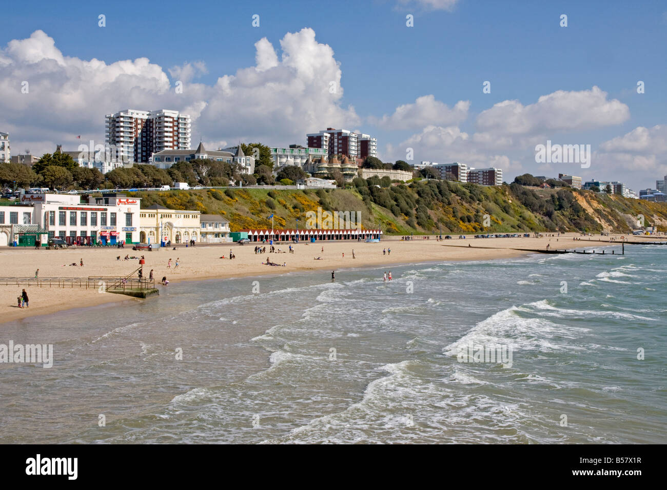 Osten Klippen und Strand, Bournemouth, Dorset, England, Vereinigtes Königreich, Europa Stockbild