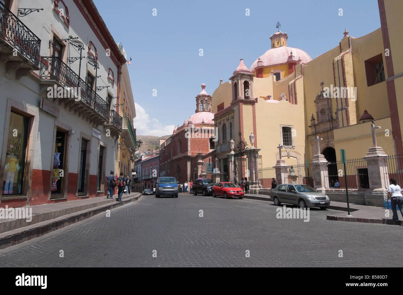 Plaza De La Paz in Guanajuato, ein UNESCO-Weltkulturerbe, Bundesstaat Guanajuato, Mexiko, Nordamerika Stockbild