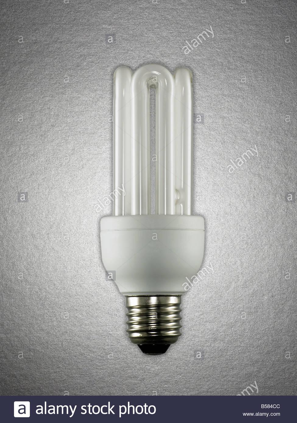 Energie effiziente Glühbirne Stockbild