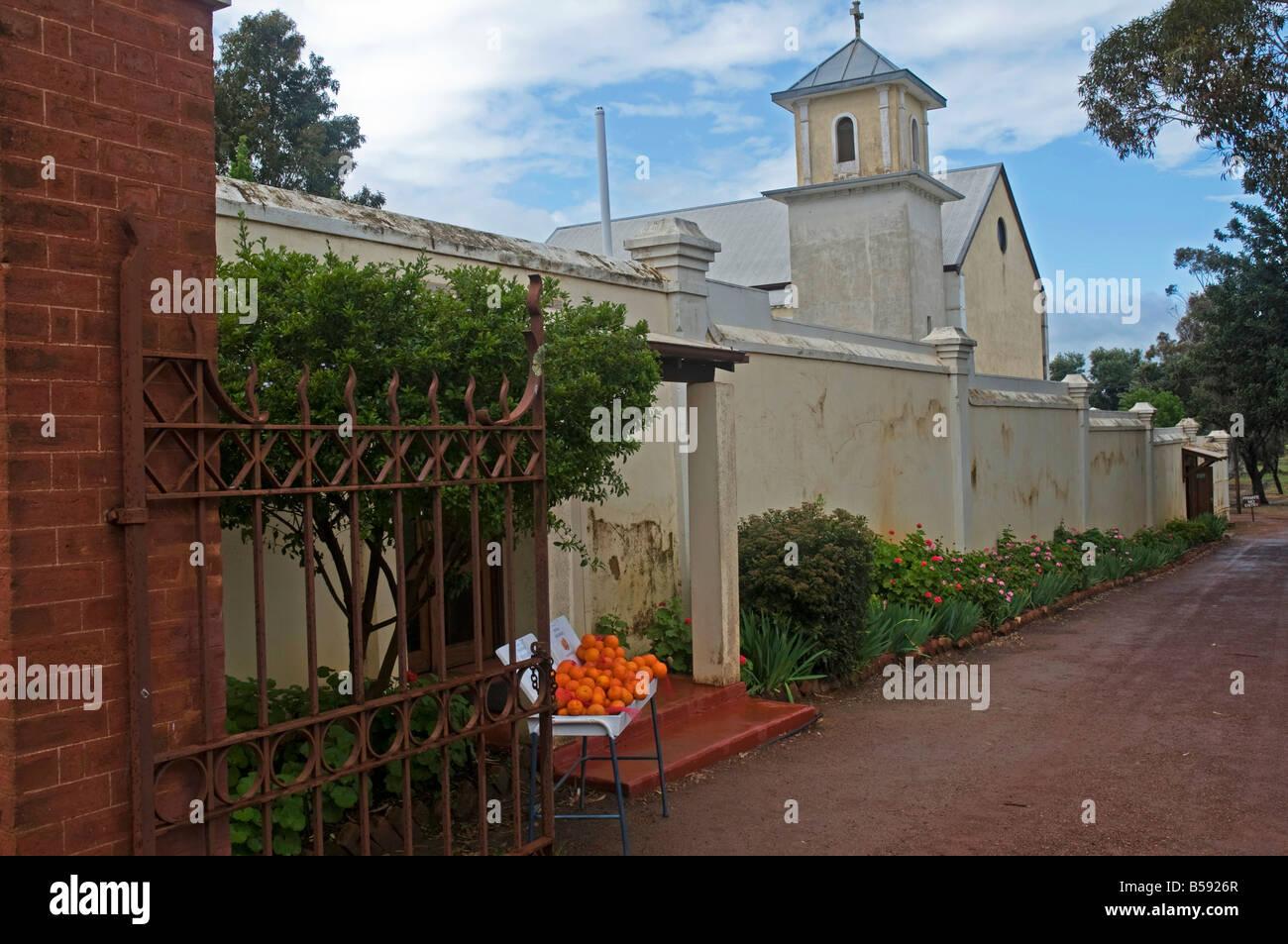Das Gästehaus in der Benediktiner-Kloster in New Norcia in Western Australia Stockbild