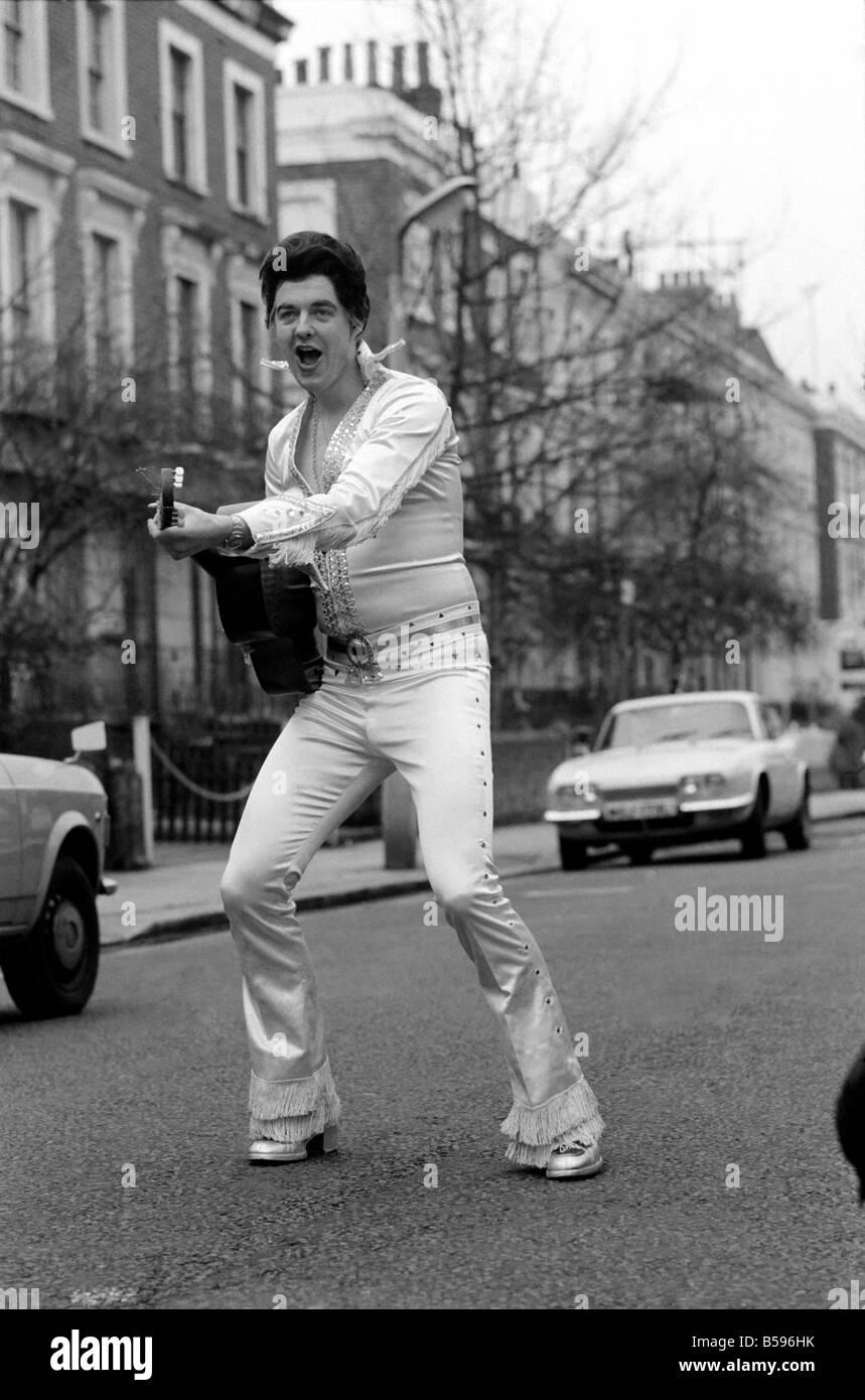 Rock Pharoah - Tim Rice - Elvis Presley. Nächste Woche wird Tim Rice eine Ambition von vielen - statt auf der Stockbild