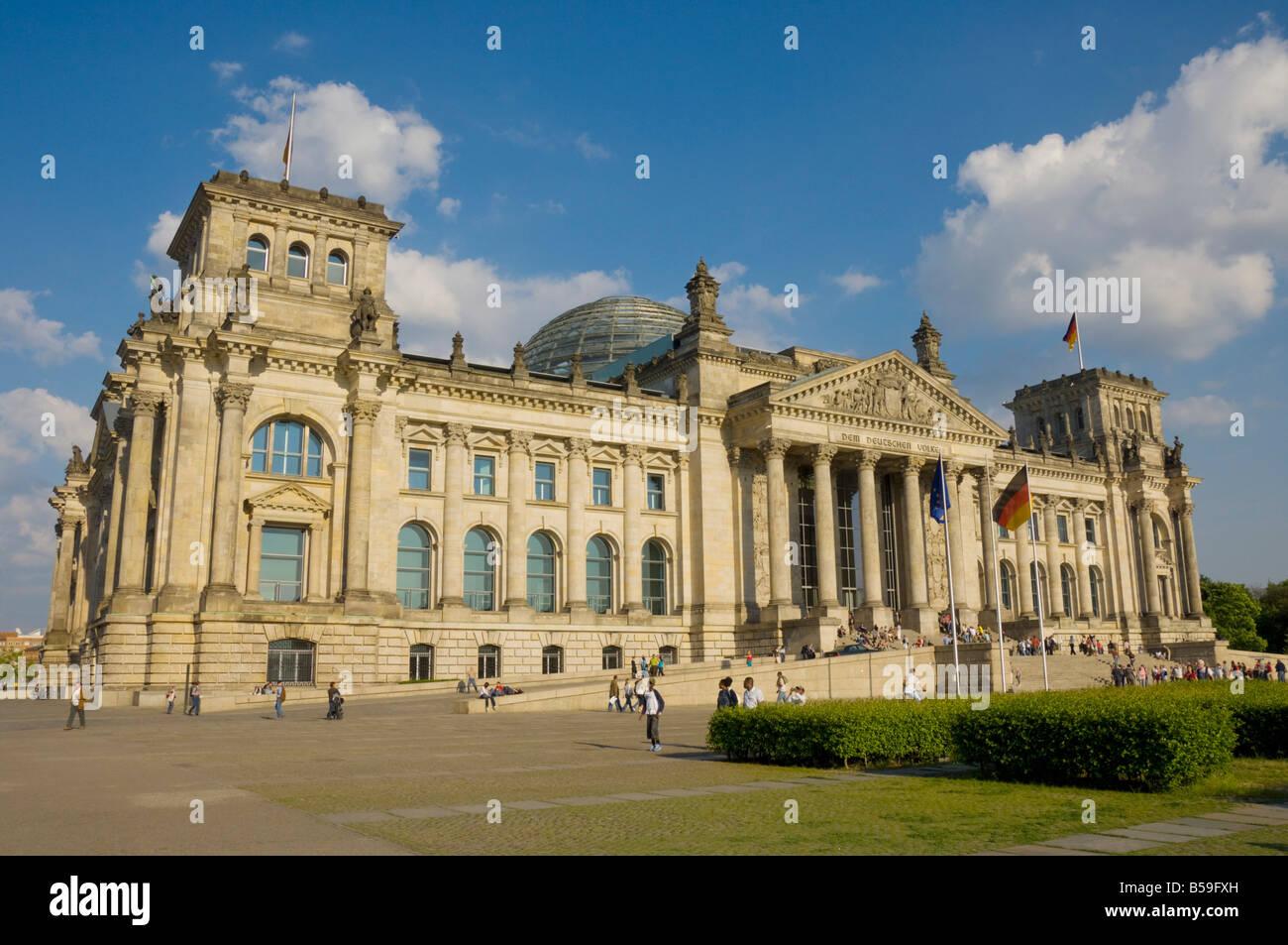 Parlament Reichstagsgebäude, Berlin, Deutschland, Europa Stockbild