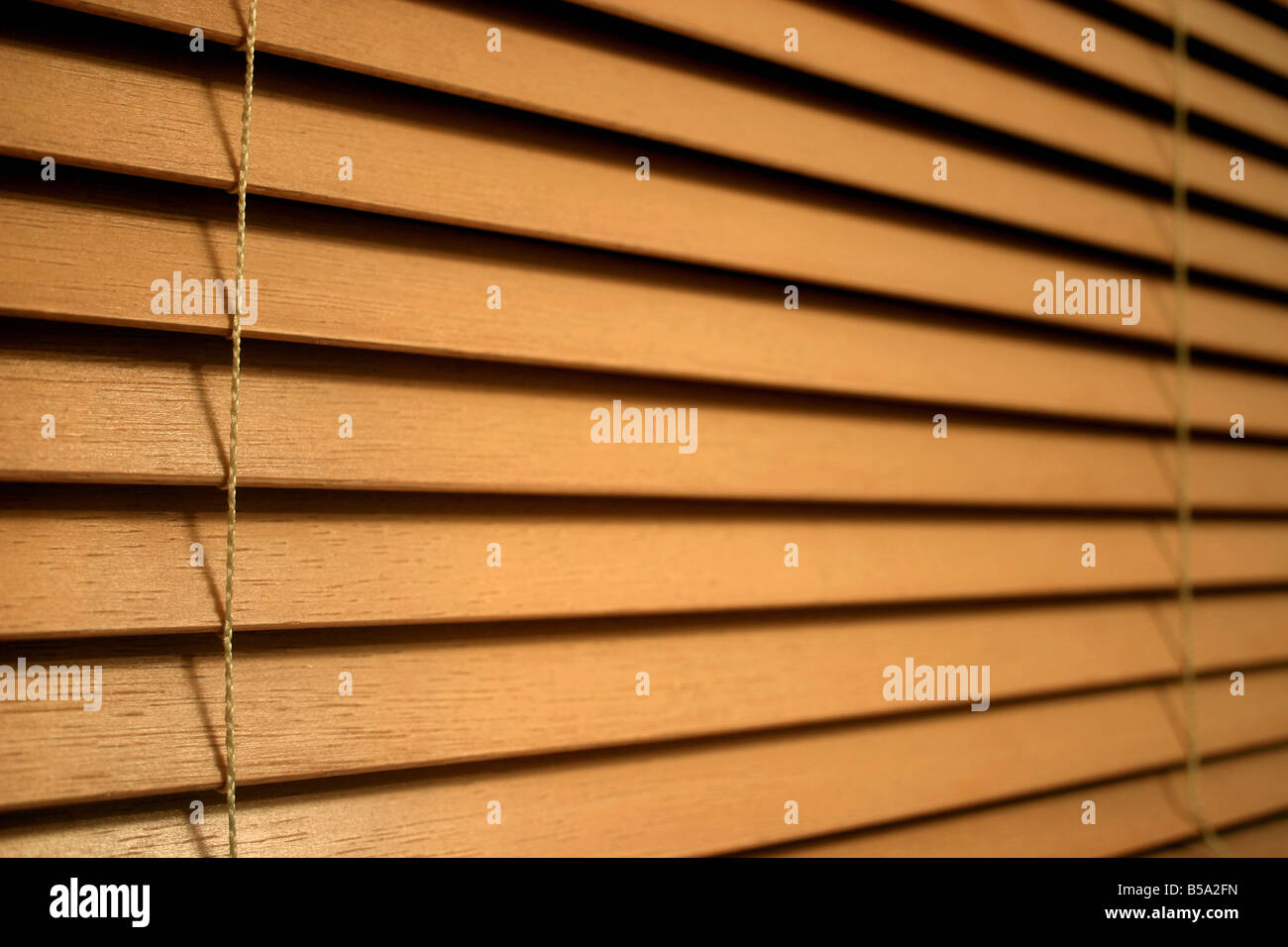 Nahaufnahme Detail der Holzlatte Vorhänge Stockbild