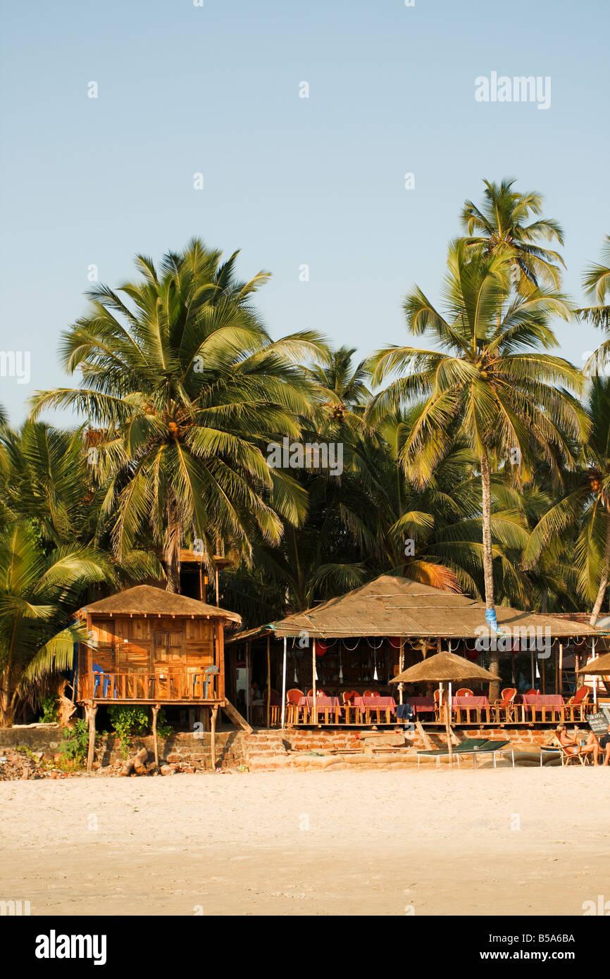 Strandleben Palolem Goa Indien Stockbild