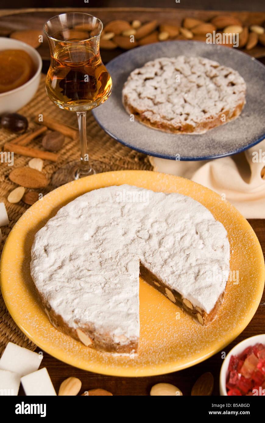 Panforte Von Siena Ein Kuchen Aus Honig Mandeln Haselnusse
