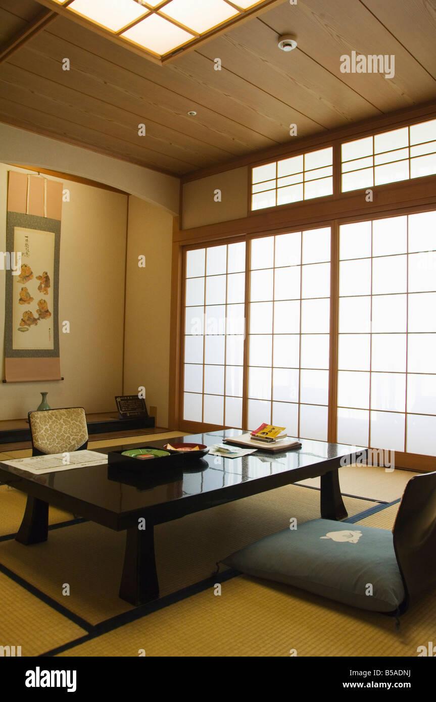 Einem Traditionellen Ryokan Tatami Matte Schlafzimmer In Matsuyama