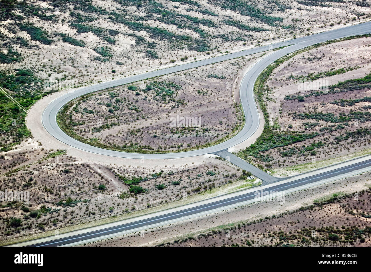 Luftaufnahme über Texas Rennstrecke Stockbild