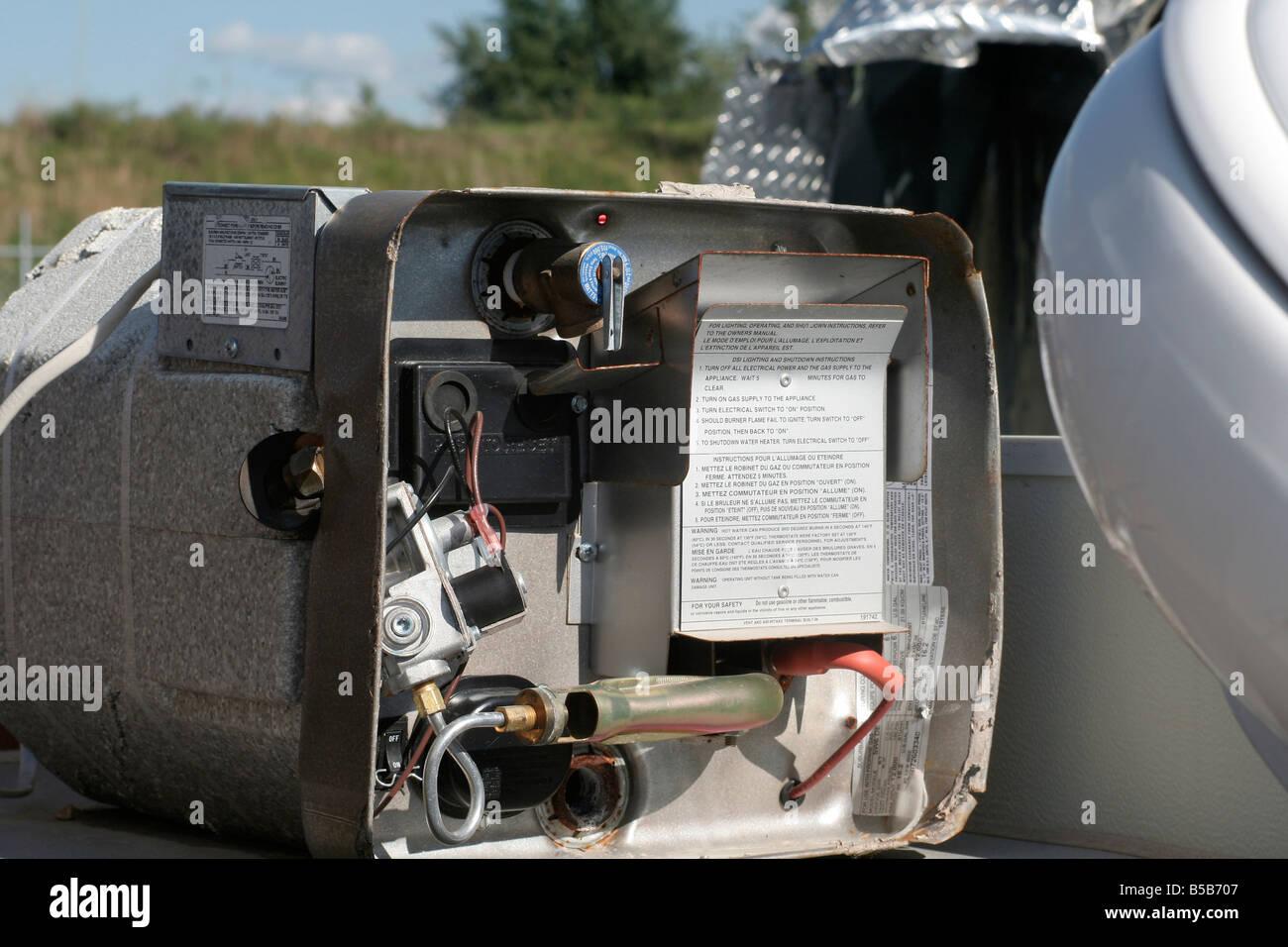 gas wasser heizung auf tornado zerst rt wohnwagen
