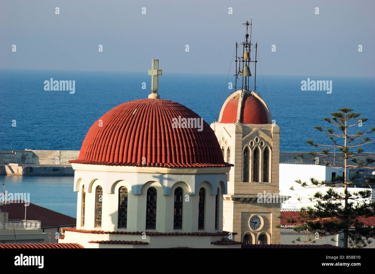 orthodox church rethymnon crete greece stockfotos. Black Bedroom Furniture Sets. Home Design Ideas
