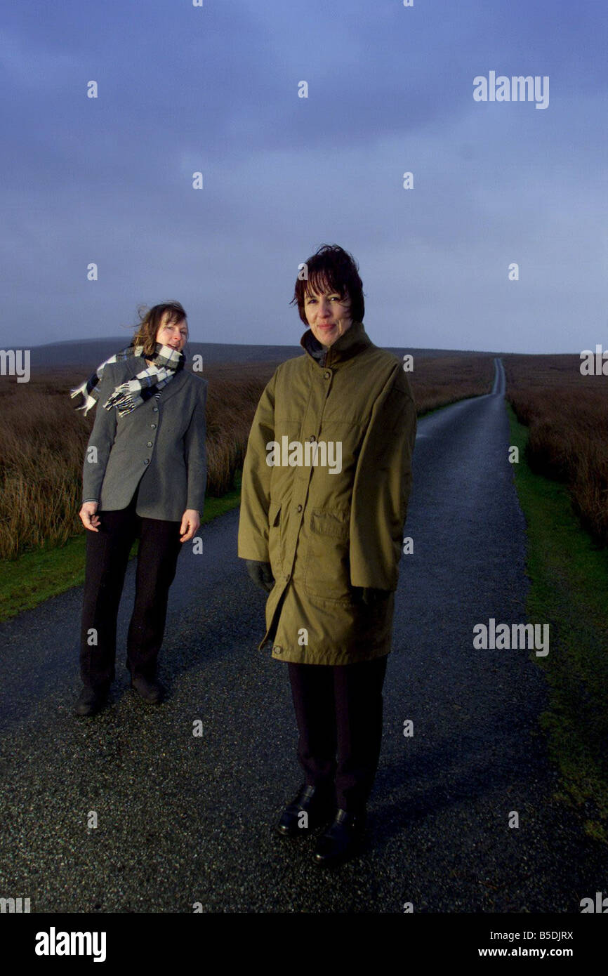 Die allererste Greenham Common Frauen Ann Pettitt und Karmen Tomson sie begann den Protest nach einem Spaziergang Stockbild