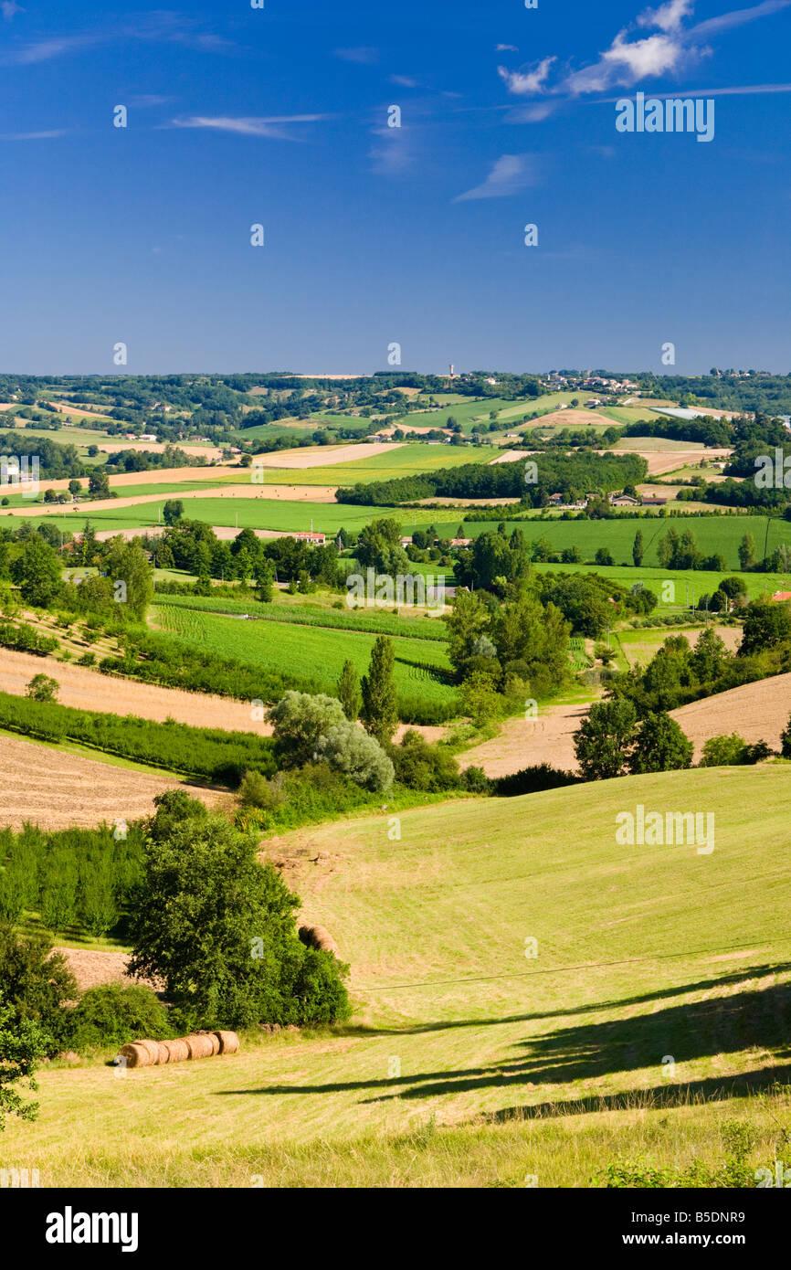 Tarn et Garonne - französische Landschaft Frankreich, Europa Stockbild