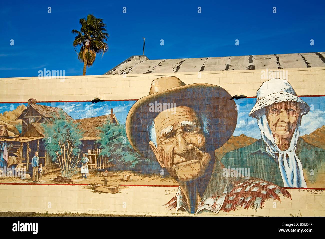 Wandbild von Peter und Dan Sawatzky, 29 Palms City, Kalifornien, USA, Nordamerika Stockbild