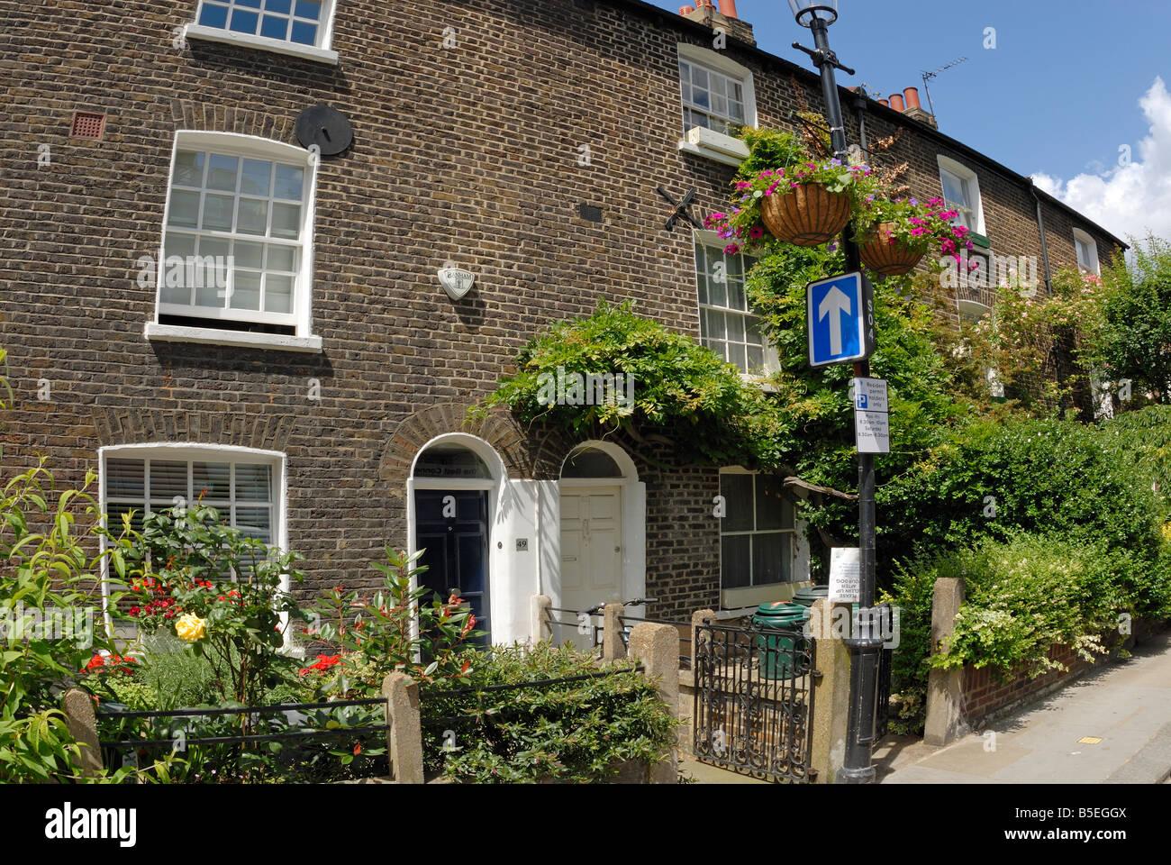 Landhausstil Häuser In Earls Court London Stockfoto Bild 20603994