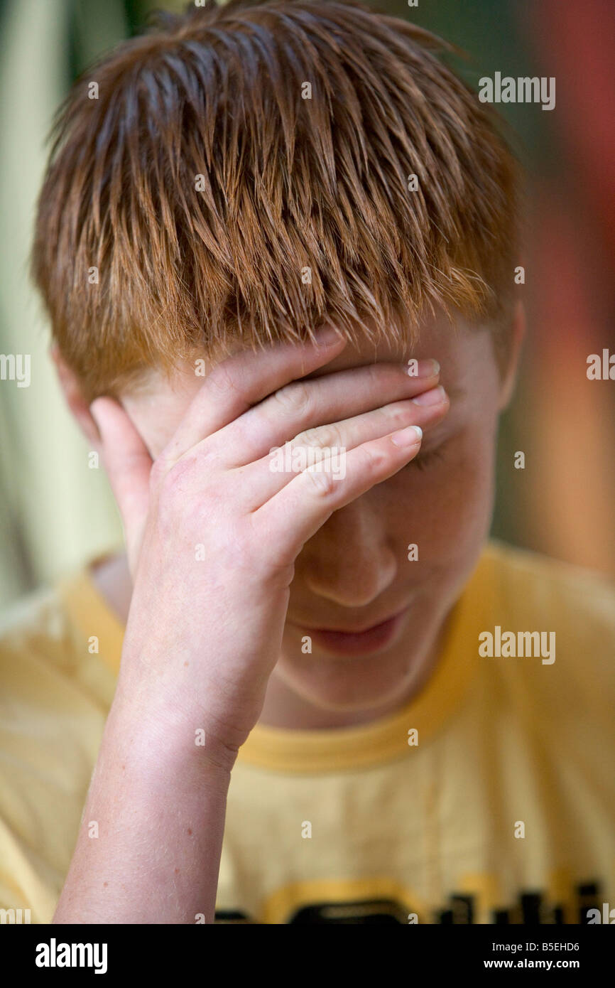 Verzweifelte Teenager Stockbild