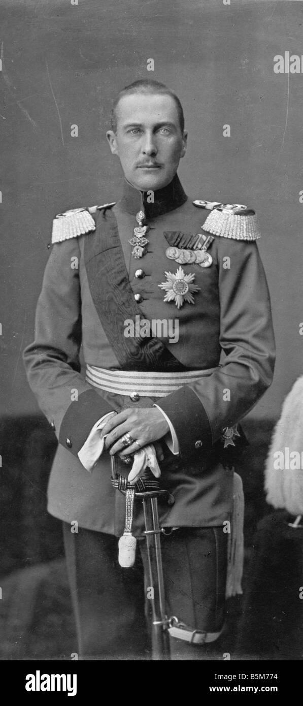 1 A61 B1905 Albrecht von Württemberg Foto 1905 Albrecht Herzog von Württemberg von 1916 Generalfeldmarschall Stockbild