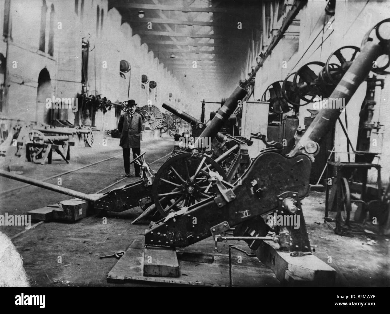 9TK 1916 0 0 A1 4 Waffe Fabriken Türkei Herbst 1916 Geschichte der Türkei 1. Weltkrieg Waffe Kanonen und Stockbild