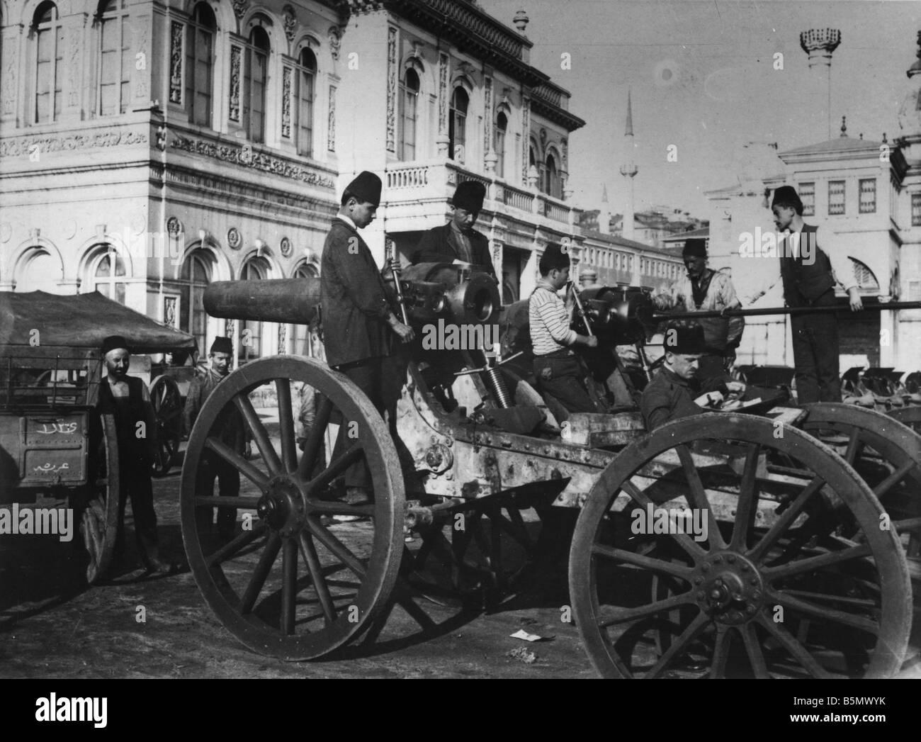 9TK 1916 0 0 A1 5 Waffe Fabriken Türkei Herbst 1916 Geschichte der Türkei 1. Weltkrieg Waffe Kanonen und Stockbild