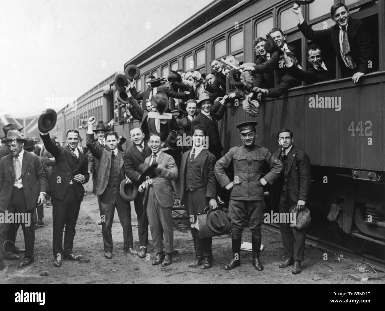 9us 1917 9 19 A1 Krieg Eingang 1917 rufen Sie Foto 1. Weltkrieg Krieg Zugang durch die Kriegserklärung der Stockbild
